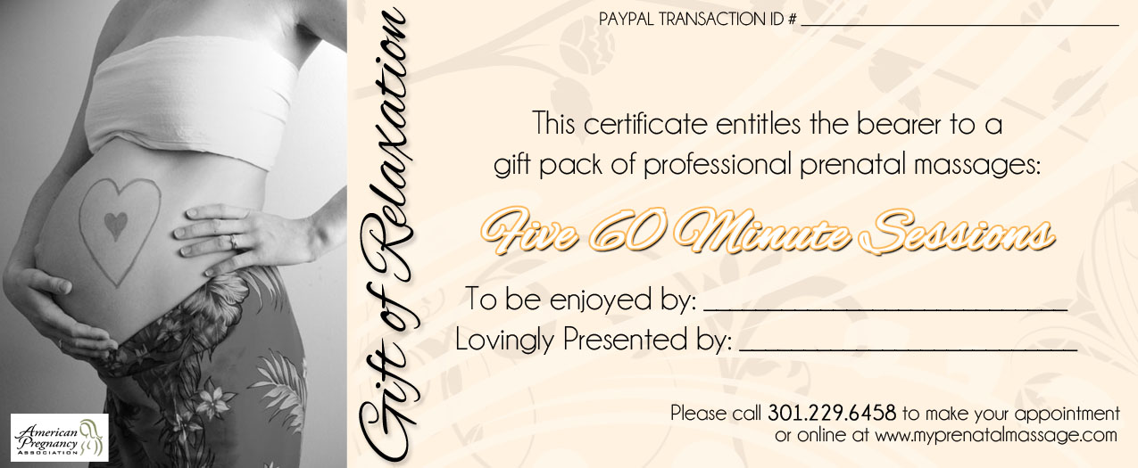 Gifts My Prenatal Massage